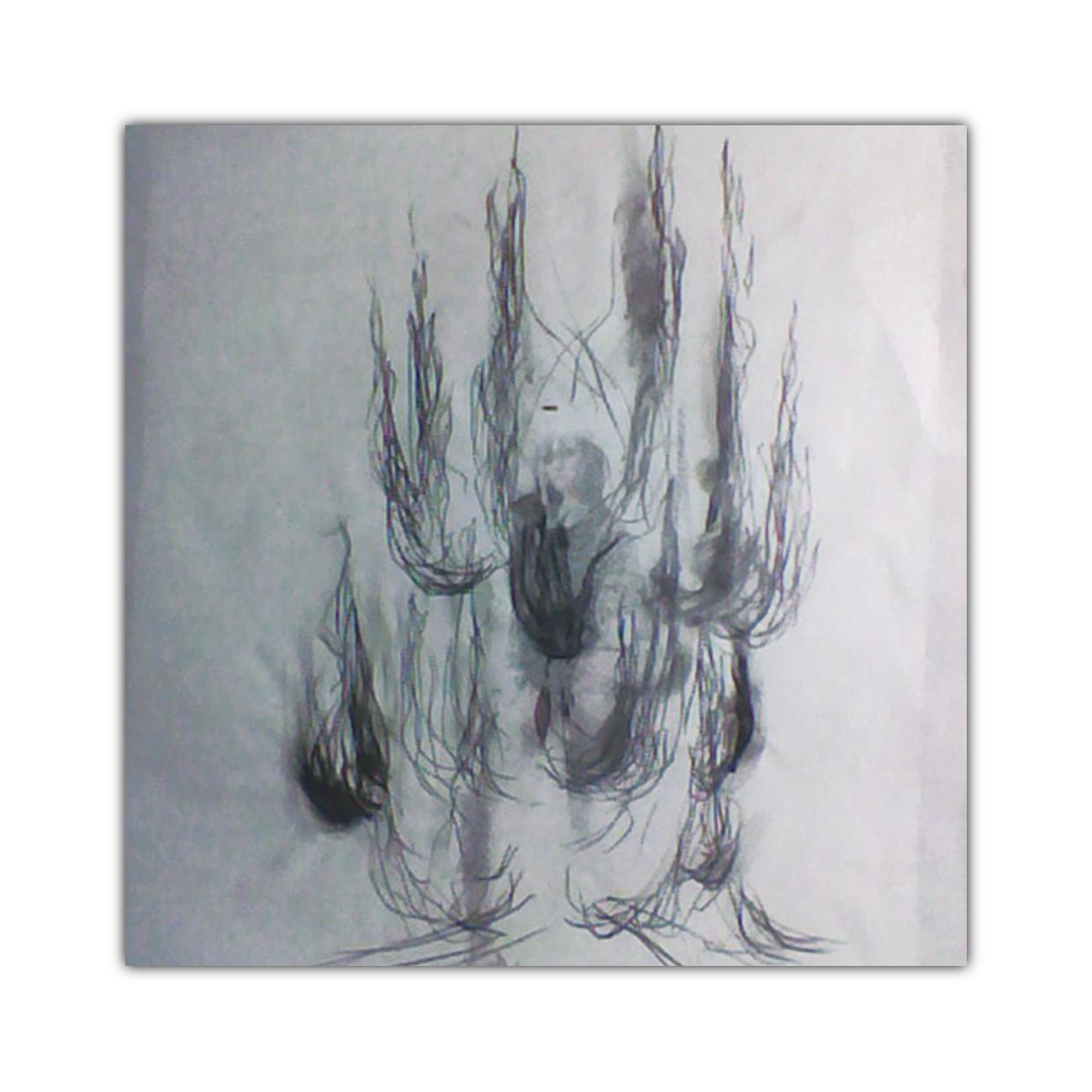 Giacinto Cerone disegno su carta 2001